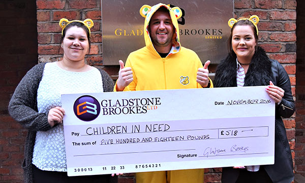 Gladstone Brookes' Charity of the Month