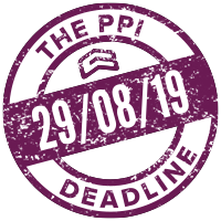 The PPI Deadline - 29th August 2019
