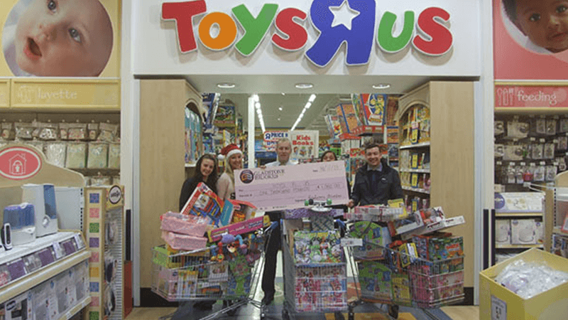 Gladstone Brookes joins the Warrington Christmas Toy Appeal