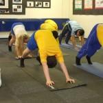 Yoga floor exercises