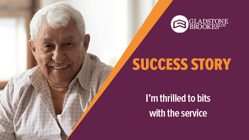 SUCCESS STORY – I'm thrilled to bits with the service