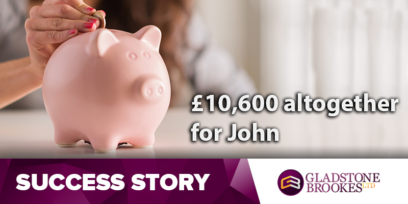 John nets £6,660.34 second time around