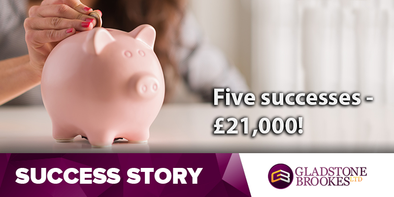 Five successful cases net John £21,000