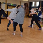Street dance was the last activity of the day
