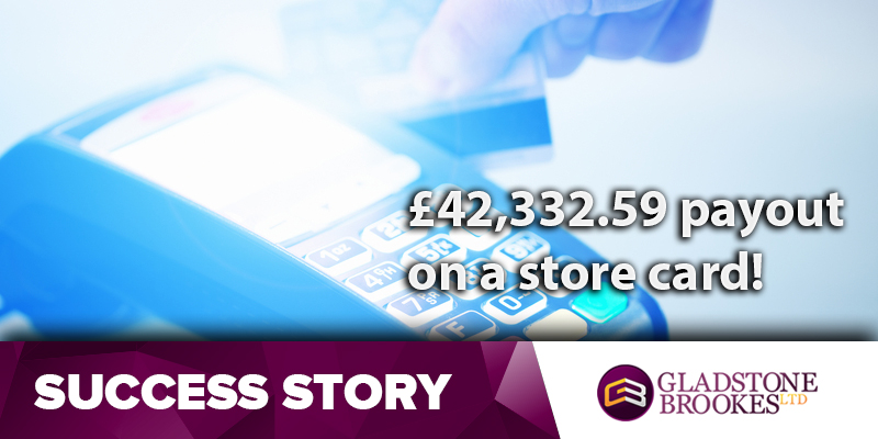 £42,332.59  on a store card
