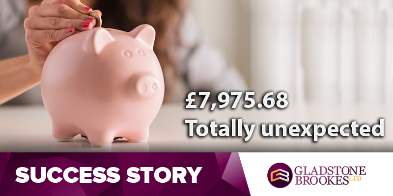 SUCCESS STORY – The amount was totally unexpected