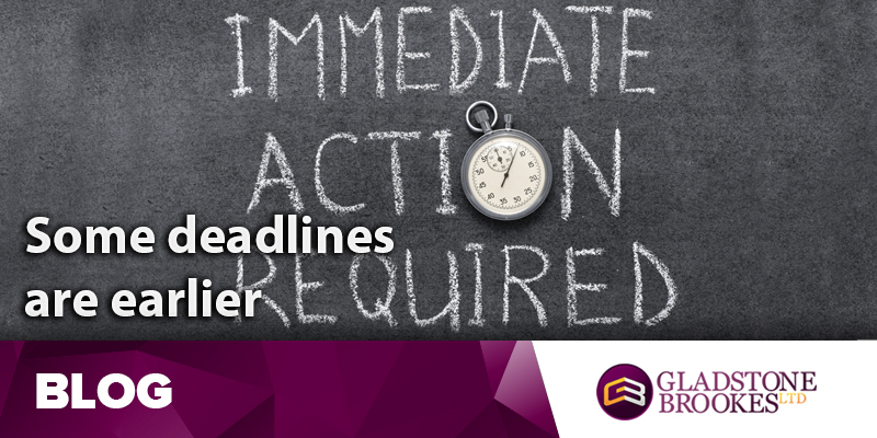 Don't get caught by an early PPI deadline