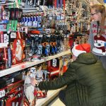 Dom and Amy  selecting Star Wars toys